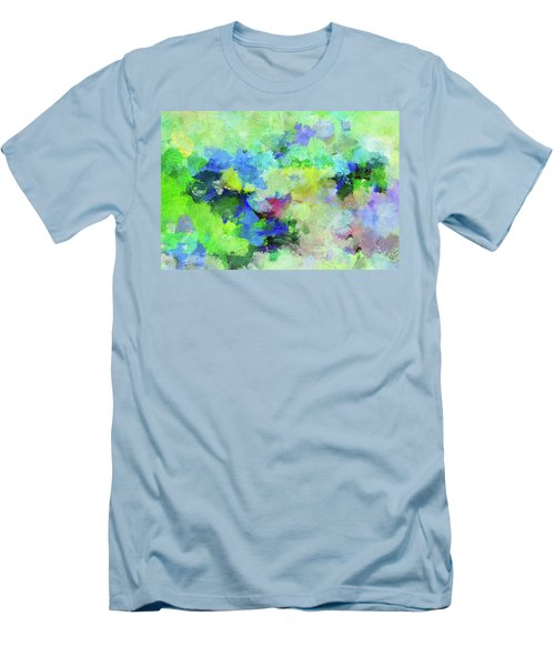 Men's T-Shirt (Slim Fit) featuring the painting Abstract Landscape Painting by Ayse Deniz