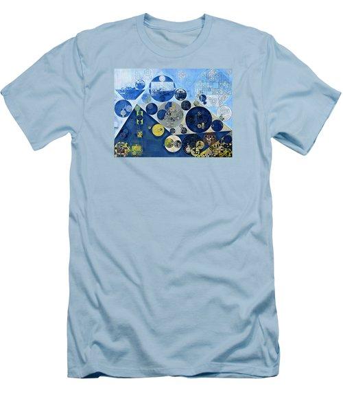 Abstract Painting - Kashmir Blue Men's T-Shirt (Slim Fit) by Vitaliy Gladkiy