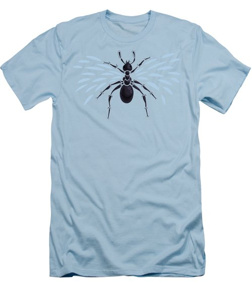 Abstract Winged Ant Men's T-Shirt (Slim Fit)