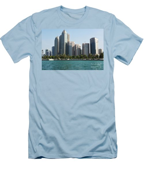 Men's T-Shirt (Slim Fit) featuring the photograph Abu Dhabi by Hanza Turgul