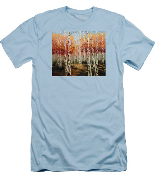 Acrylic Msc 096 Men's T-Shirt (Slim Fit) by Mario Sergio Calzi