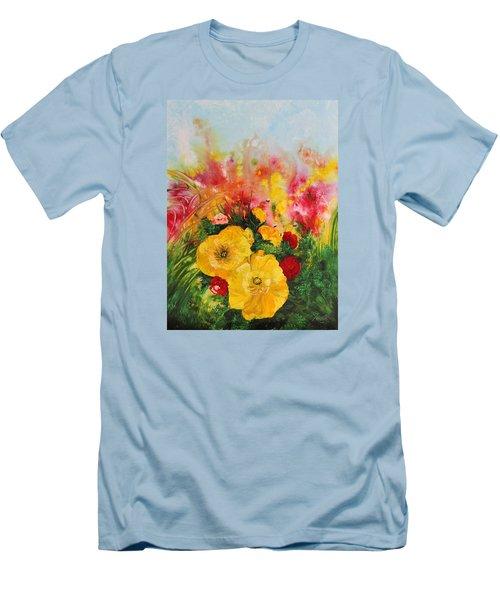 Acrylic Msc 218 Men's T-Shirt (Slim Fit) by Mario Sergio Calzi