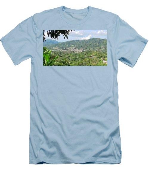 Adjuntas Town Men's T-Shirt (Athletic Fit)