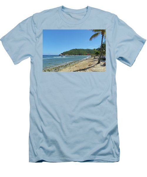 Men's T-Shirt (Slim Fit) featuring the photograph Adrenaline Beach by Carol  Bradley