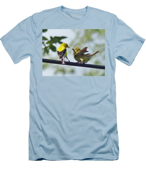 Adult And Juvenile American Goldfinch Men's T-Shirt (Athletic Fit)
