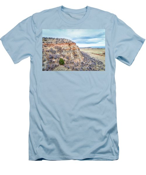aerial view of northern Colorado foothills  Men's T-Shirt (Athletic Fit)