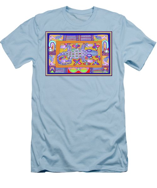 Men's T-Shirt (Athletic Fit) featuring the digital art African Croc Beach Bum by Vagabond Folk Art - Virginia Vivier
