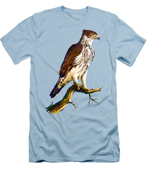 African Hawk Eagle Men's T-Shirt (Slim Fit) by Anthony Mwangi
