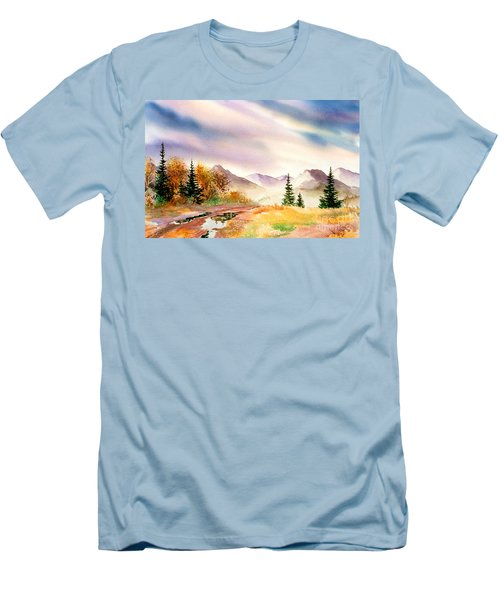 Men's T-Shirt (Slim Fit) featuring the painting After The Rain by Teresa Ascone