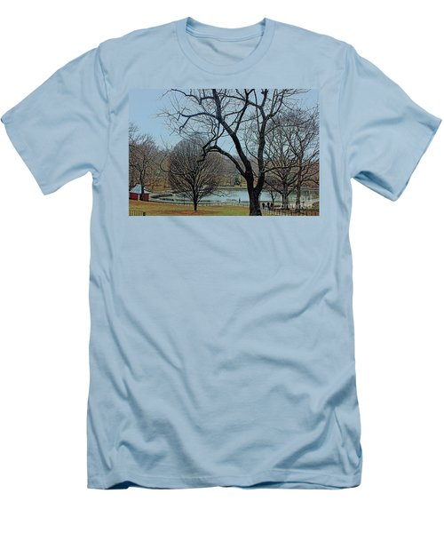 Afternoon In The Park Men's T-Shirt (Slim Fit) by Sandy Moulder