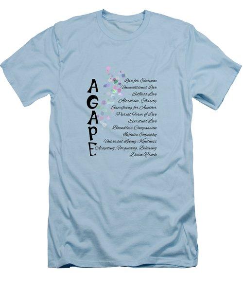 Agape-words Of Love Men's T-Shirt (Athletic Fit)