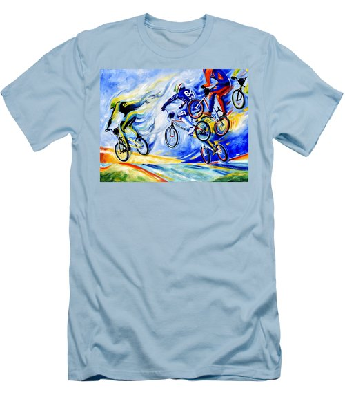 Men's T-Shirt (Athletic Fit) featuring the painting Airborne by Hanne Lore Koehler