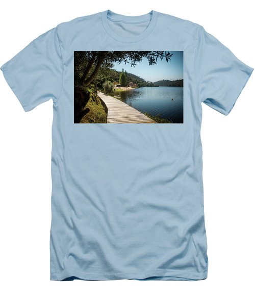 Men's T-Shirt (Slim Fit) featuring the photograph Alamal Beach by Carlos Caetano