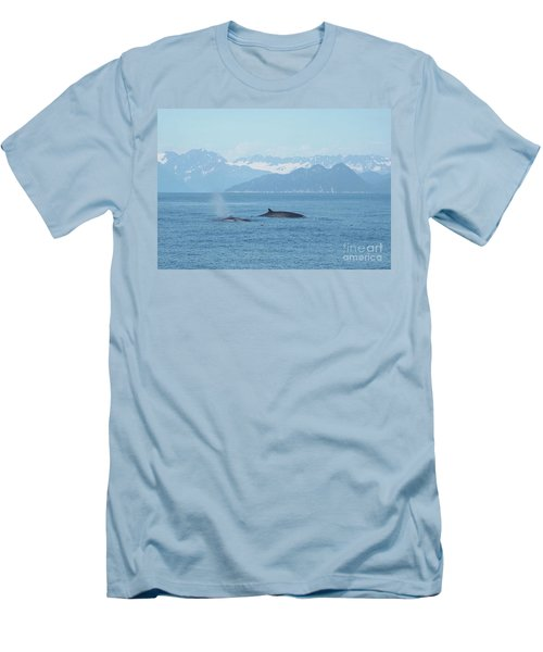 Alaska Finback Whales Men's T-Shirt (Athletic Fit)