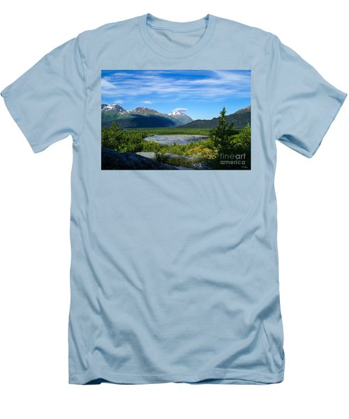 Alaska's Exit Glacier Valley Men's T-Shirt (Athletic Fit)