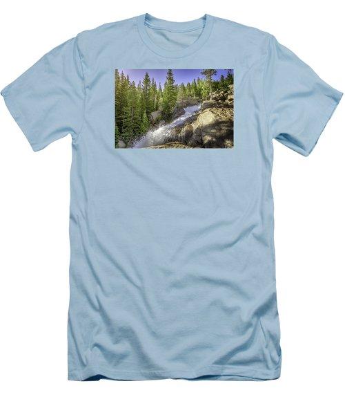 Alberta Falls Men's T-Shirt (Slim Fit) by Mary Angelini