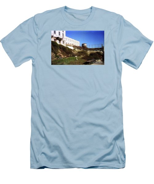 Alcatraz Water Tank Prison  Men's T-Shirt (Slim Fit) by Ted Pollard