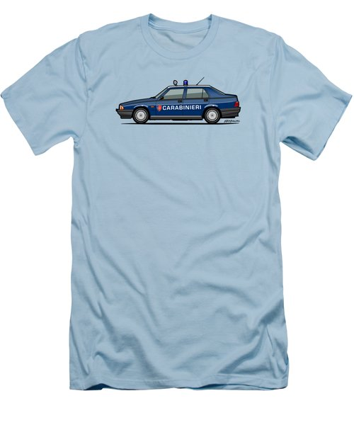 Alfa Romeo 75 Tipo 161, 162b Milano Carabinieri Italian Police Car Men's T-Shirt (Athletic Fit)