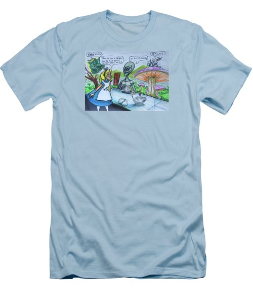 Alien In Wonderland Men's T-Shirt (Athletic Fit)