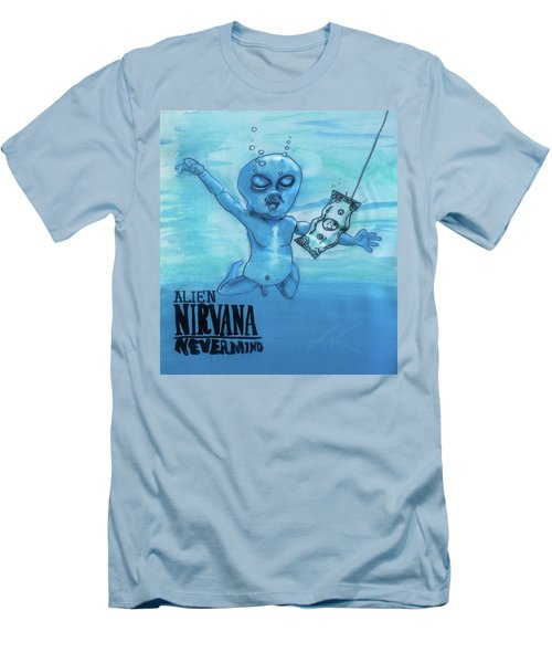 Alien Nevermind Men's T-Shirt (Athletic Fit)