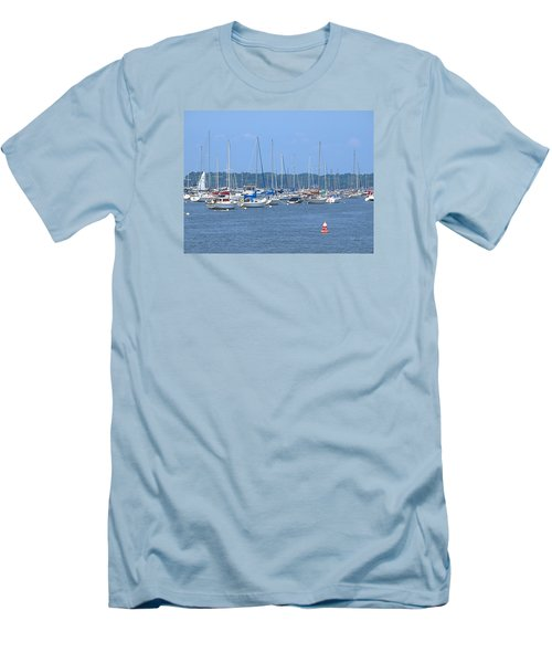Men's T-Shirt (Slim Fit) featuring the photograph All In Line by Newwwman