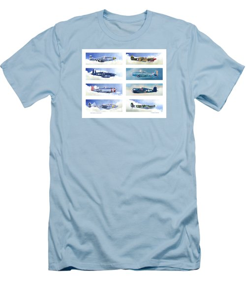 Allied Fighters Of The Second World War Men's T-Shirt (Slim Fit) by Douglas Castleman