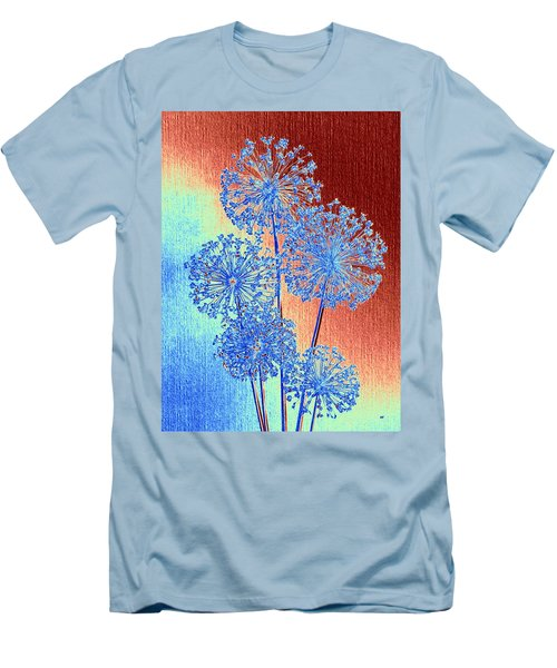 Men's T-Shirt (Athletic Fit) featuring the mixed media Alluring Allium Abstract by Will Borden