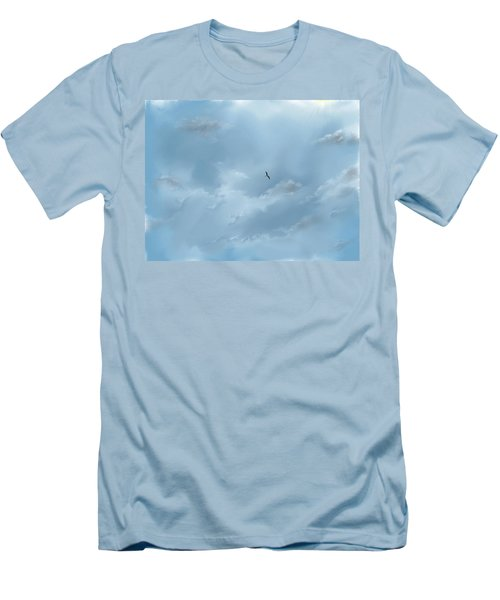 Men's T-Shirt (Athletic Fit) featuring the digital art Alone by Darren Cannell