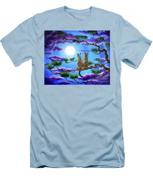 Alone In The Treetops Men's T-Shirt (Slim Fit) by Laura Iverson