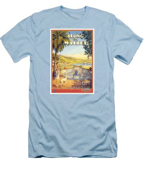 Along The Malibu Men's T-Shirt (Slim Fit) by Nostalgic Prints
