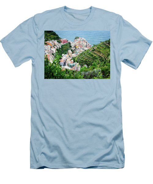 Along The Via Del Amore Men's T-Shirt (Slim Fit) by William Beuther