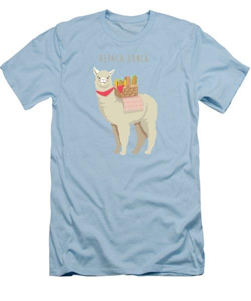 Alpaca Lunch Men's T-Shirt (Slim Fit) by Little Bunny Sunshine