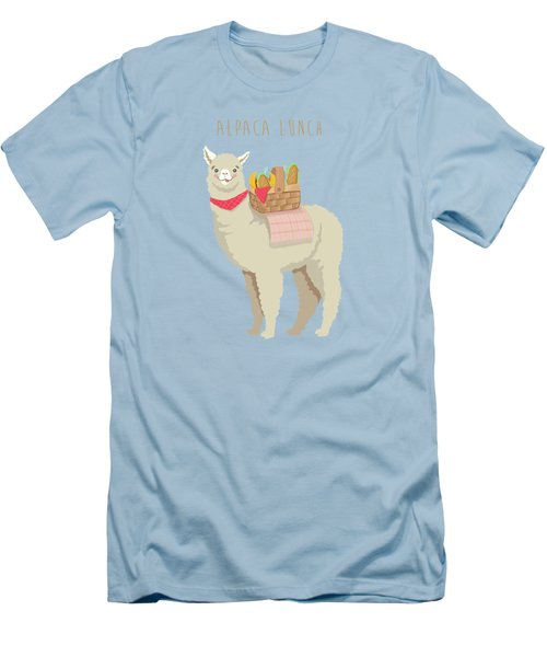Alpaca Lunch Men's T-Shirt (Athletic Fit)