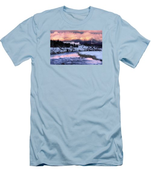 Alpenglow Over The Mount Washington Hotel Men's T-Shirt (Athletic Fit)