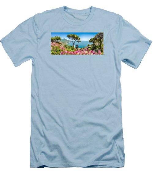 Amalfi Coast From Villa Rufolo Gardens In Ravello, Campania, Ita Men's T-Shirt (Athletic Fit)