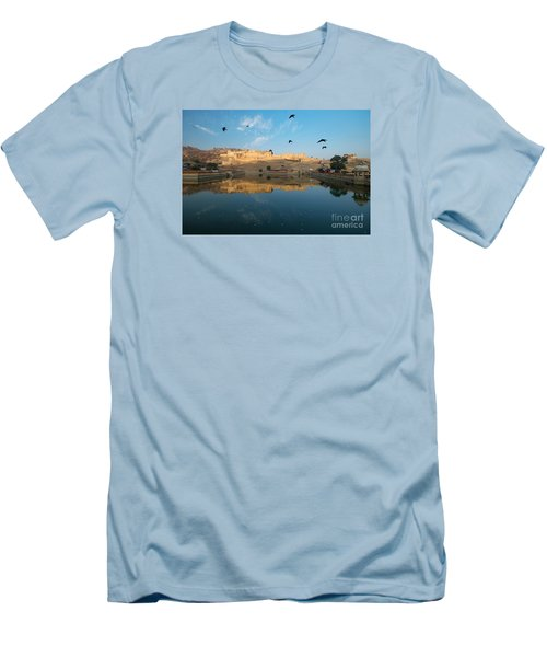 Men's T-Shirt (Athletic Fit) featuring the photograph Amber Fort  by Yew Kwang