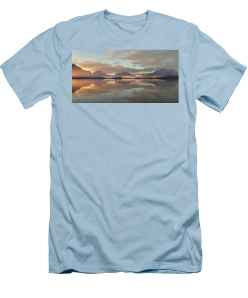 Men's T-Shirt (Slim Fit) featuring the digital art Salmon Lake Sunrise by Mark Greenberg