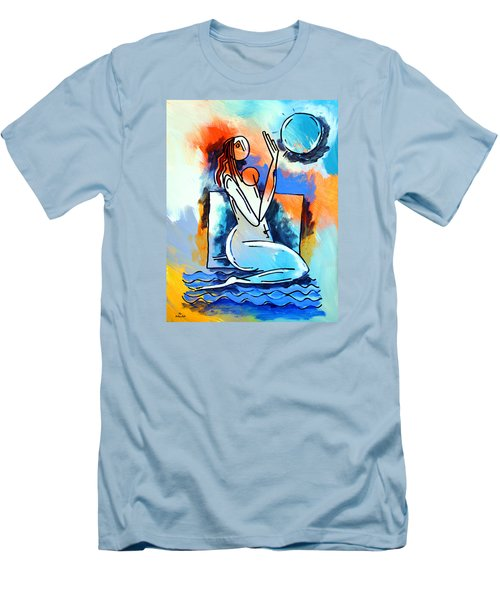 Ameeba- Nude Woman On Beach 5 Men's T-Shirt (Athletic Fit)