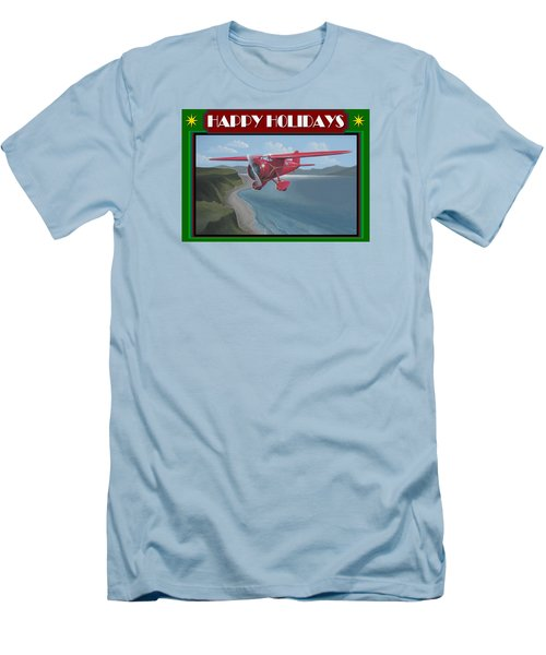 Men's T-Shirt (Slim Fit) featuring the painting Amelia's Vega Christmas Card by Stuart Swartz