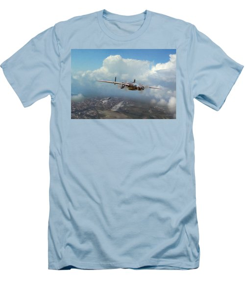 Men's T-Shirt (Slim Fit) featuring the digital art America Strikes Back by Peter Chilelli