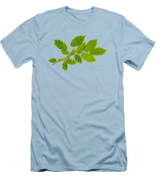 Men's T-Shirt (Slim Fit) featuring the photograph American Hornbeam by Christina Rollo