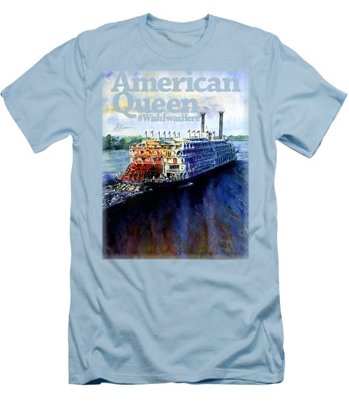 American Queen Shirt Men's T-Shirt (Athletic Fit)