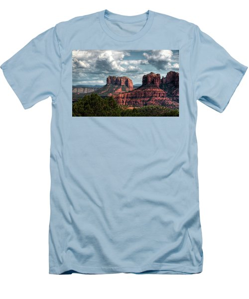 Men's T-Shirt (Athletic Fit) featuring the photograph Amidst The Red Rocks  by Saija Lehtonen