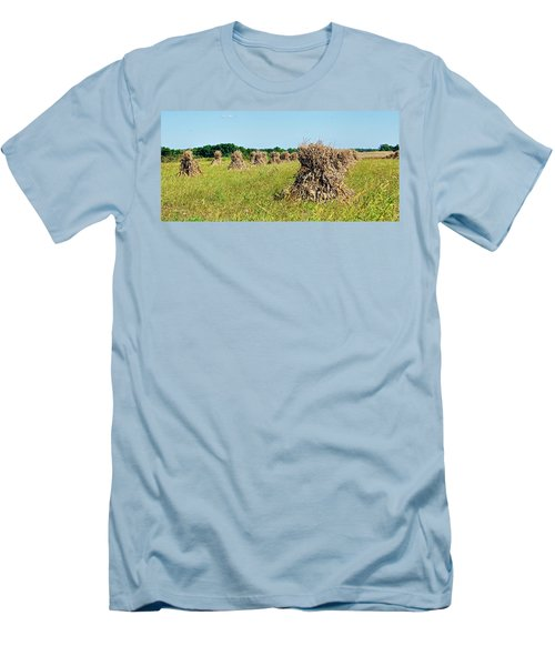 Men's T-Shirt (Slim Fit) featuring the photograph Amish Harvest by Cricket Hackmann