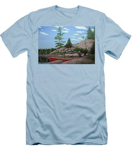 Among The Rocks II Men's T-Shirt (Slim Fit) by Kenneth M  Kirsch