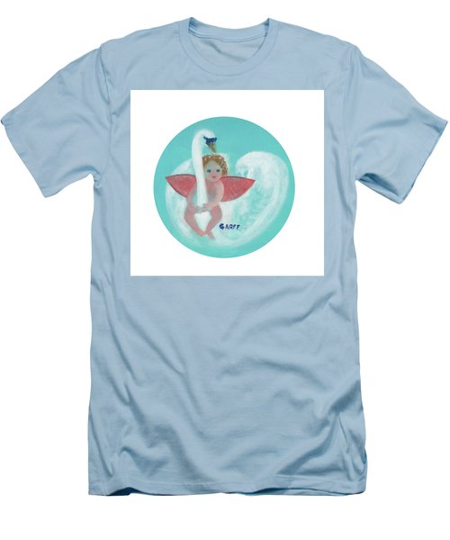 Amorino With Swan Men's T-Shirt (Athletic Fit)