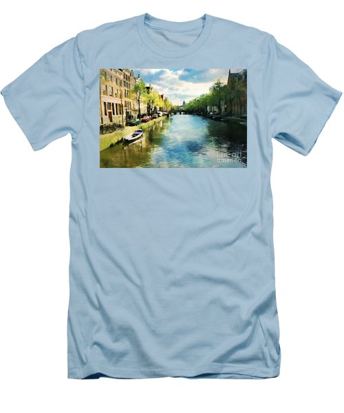 Amsterdam Waterways Men's T-Shirt (Athletic Fit)