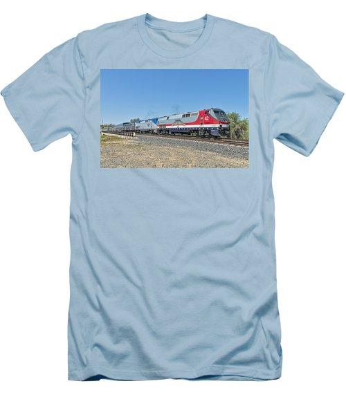 Amtrak 42  Veteran's Special Men's T-Shirt (Slim Fit) by Jim Thompson