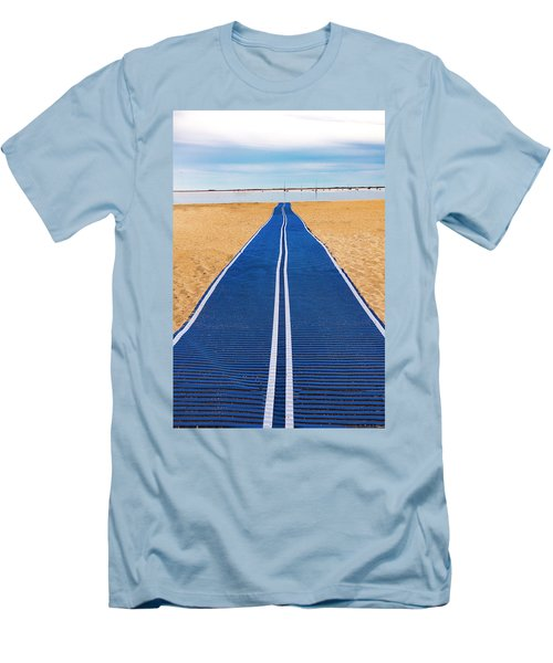 Men's T-Shirt (Athletic Fit) featuring the photograph An Uncommon Path by Paul Wear