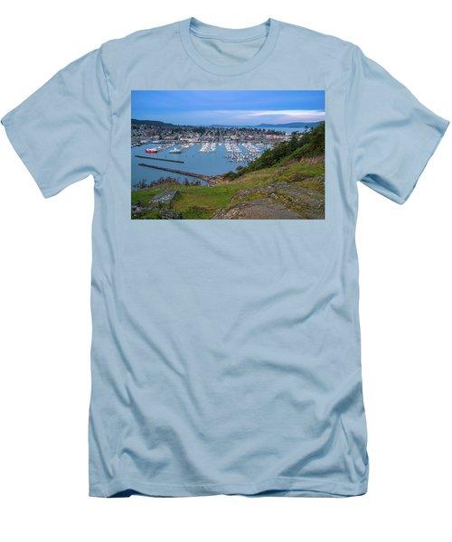 Anacortes Peaceful Morning Men's T-Shirt (Slim Fit) by Ken Stanback